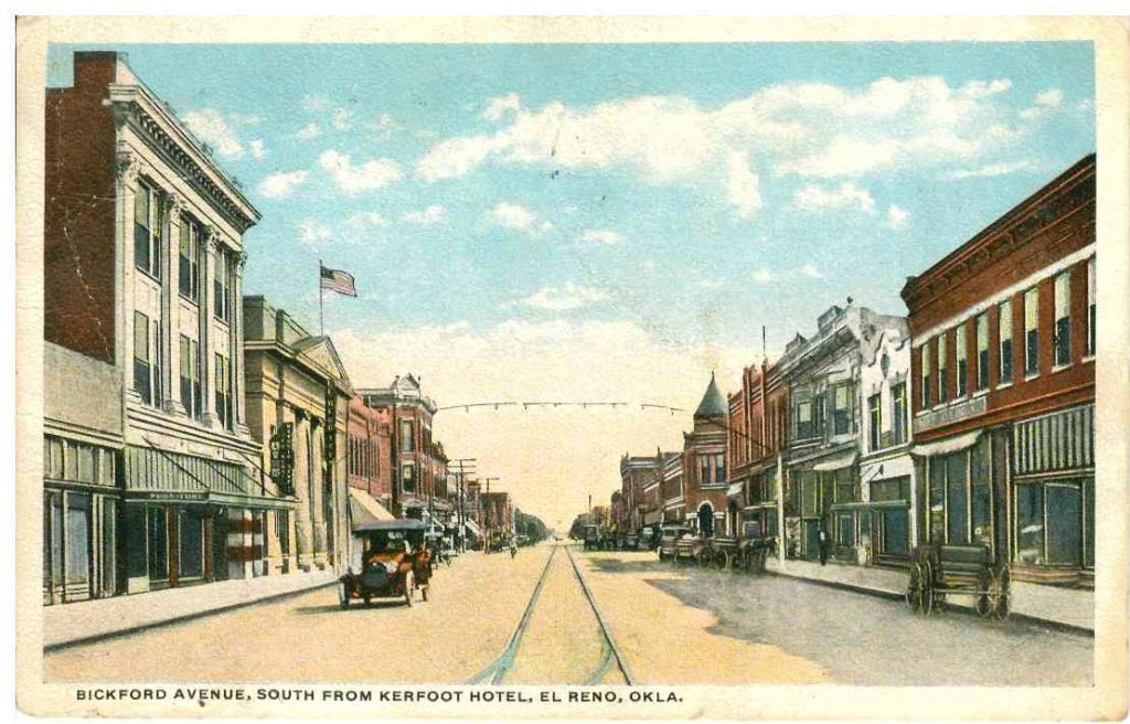 100 Block of North Bickford looking S from Kerfoot Postmarked November 1917