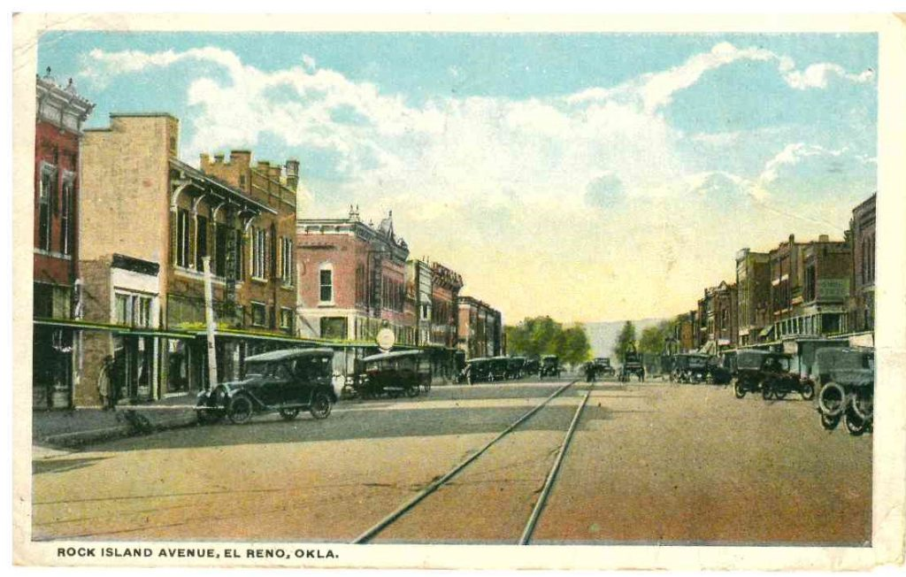200 Block South Rock Island looking North Postmarked August 1919