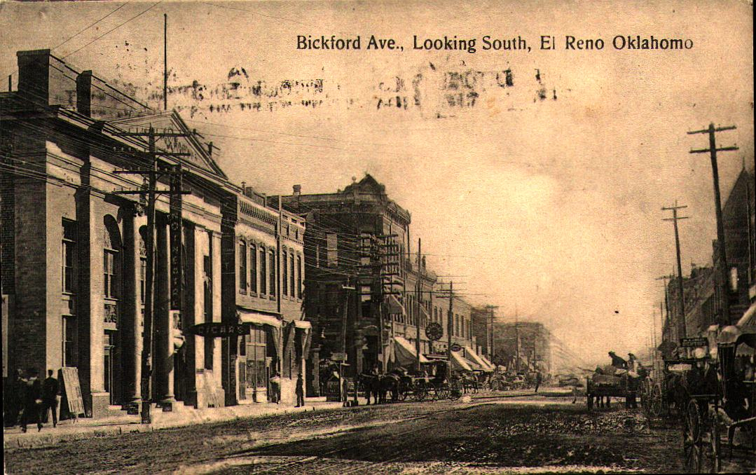 Bickford Ave. Looking South El Reno ca 1909 Tommy Neathery Collection