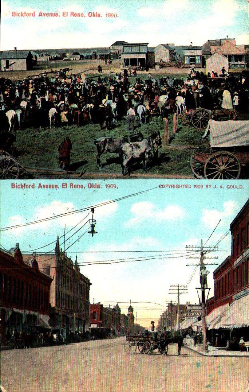 Bickford Avenue El Reno 1890 vs 1909 ca 1910 Tommy Neathery Collection