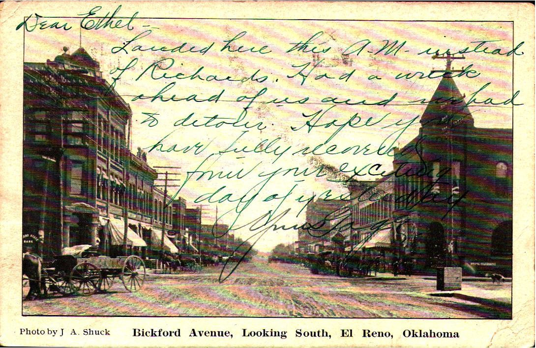 Bickford Avenue Looking South El Reno Tommy Neathery Collection