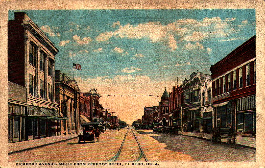 Bickford Avenue South from Kerfoot Hotel El Reno Tommy Neathery Collection