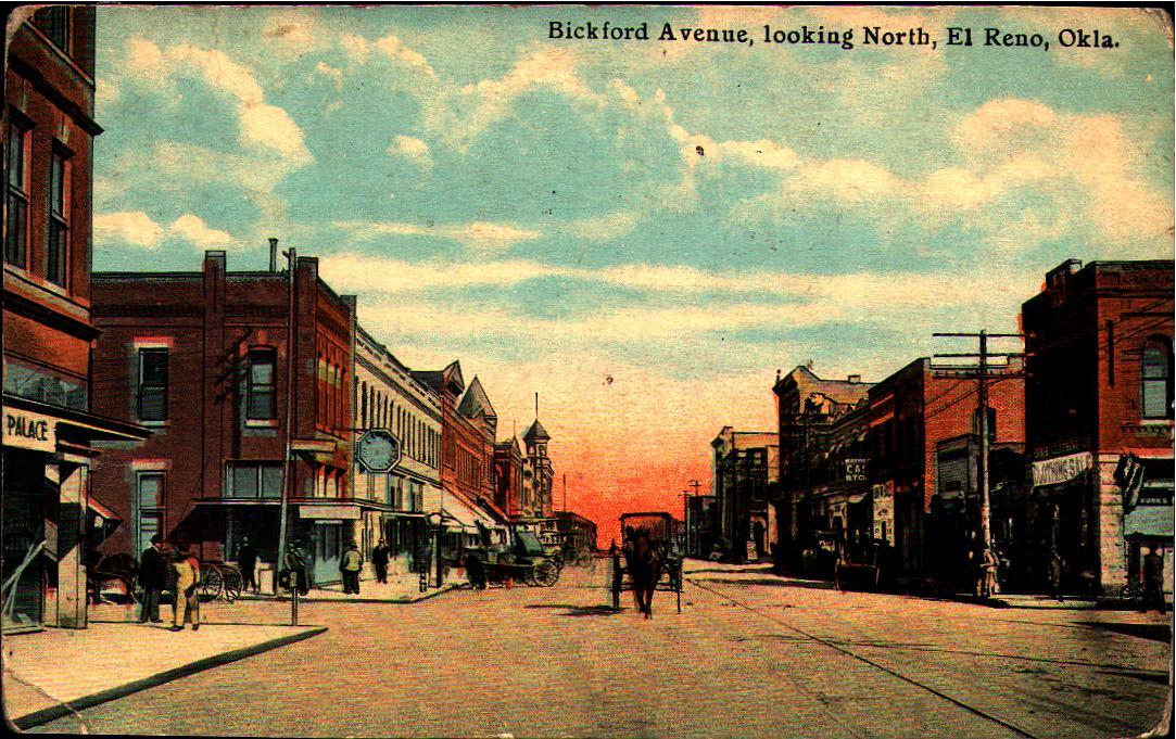 Bickford Avenue looking North El Reno ca 1913 Tommy Neathery Collection