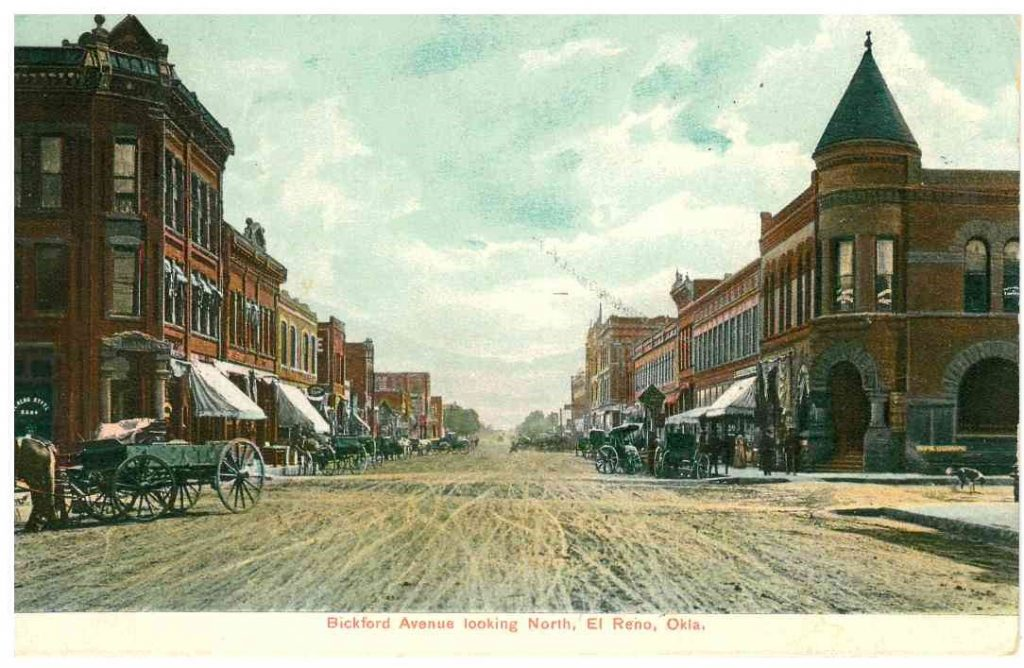 Bickford Looking South at Woodson Postmarked 1908