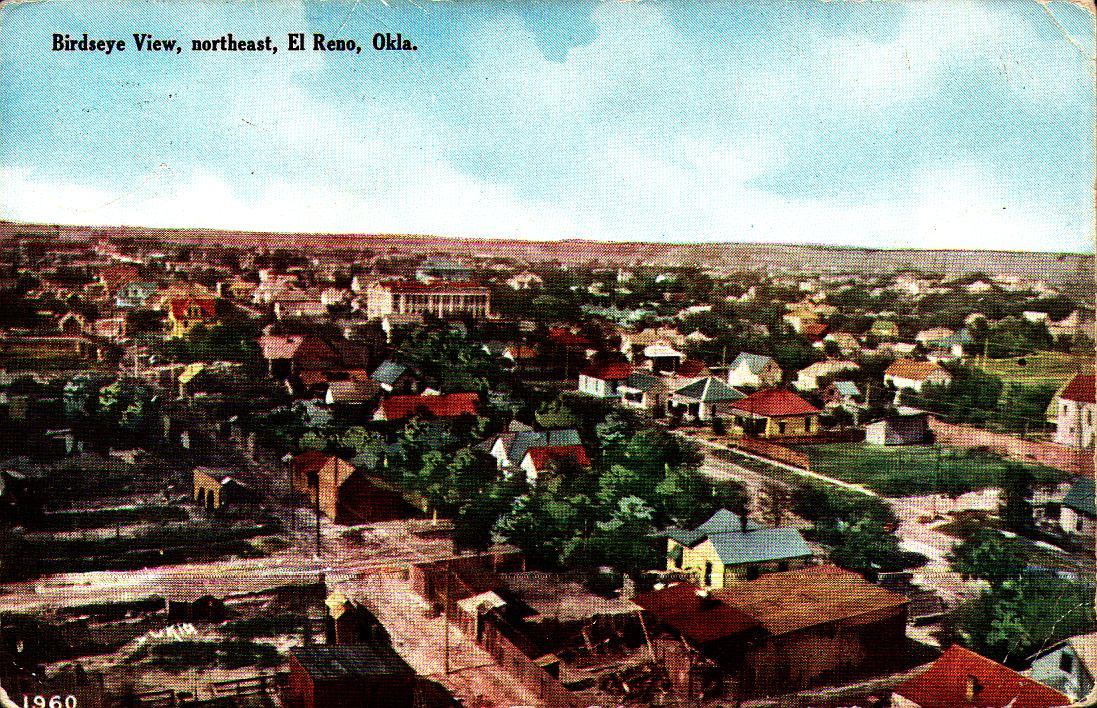 Birds eye View Northeast El Reno ca 1911 Tommy Neathery Collection