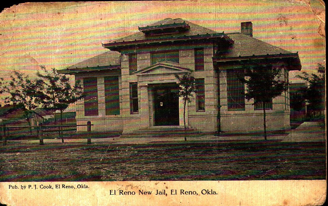 Canadian County Jail El Reno New Jail ca 1908 Tommy Neathery Collection