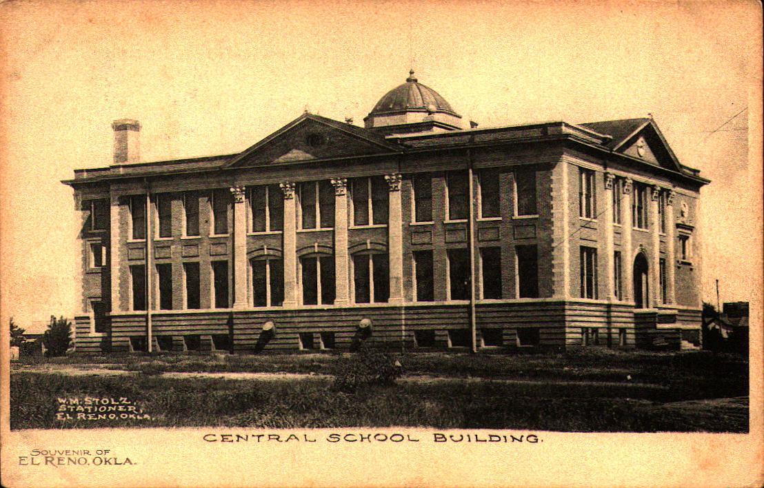 Central School Building El Reno Tommy Neathery Collection