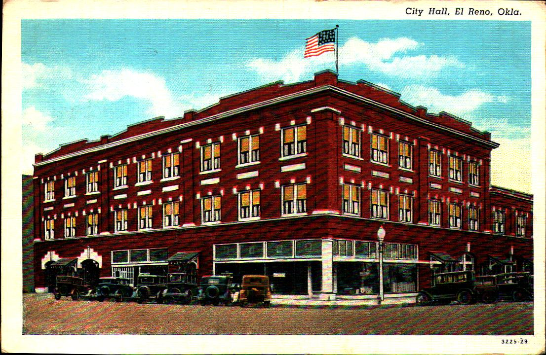 City Hall El Reno mailed in 1940 Tommy Neathery Collection