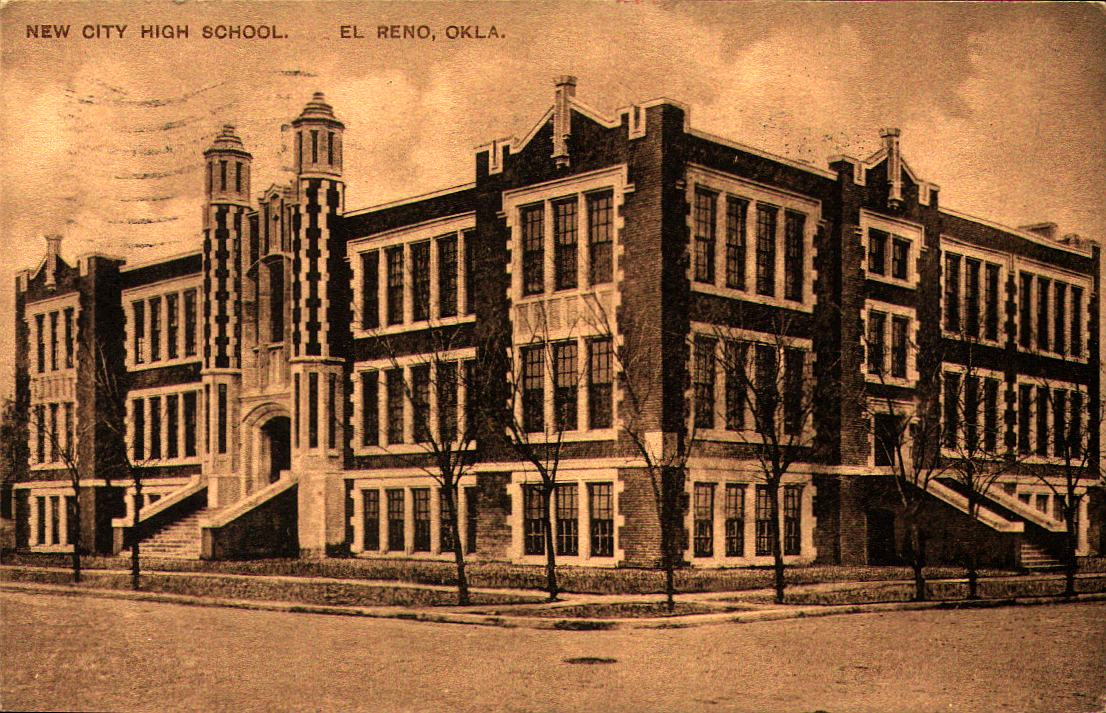 El Reno New City High School ca 1912 Tommy Neathery Collection