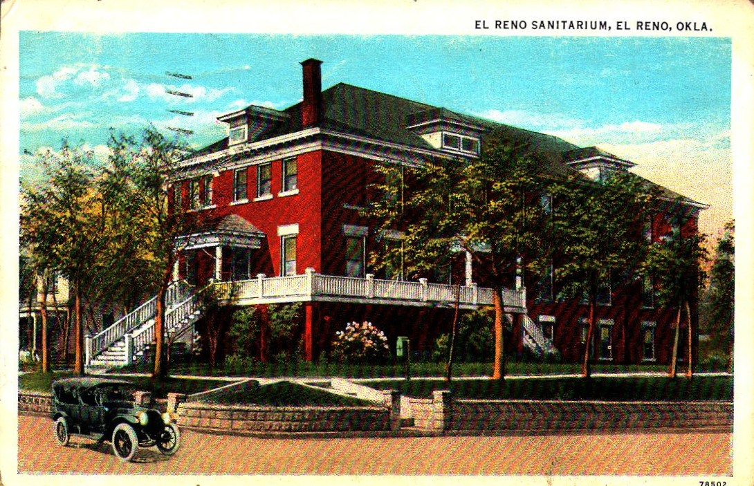 El Reno Sanitarium mailed in 1933 Tommy Neathery Collection