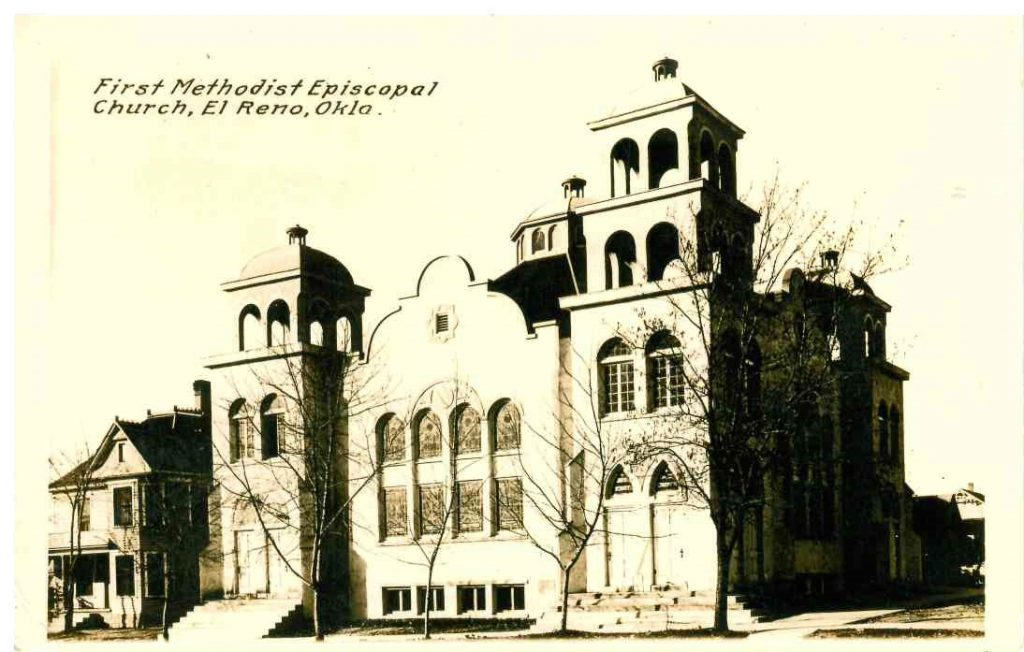 First Methodist Episcopal Church on Rock Island at Watts About 1915
