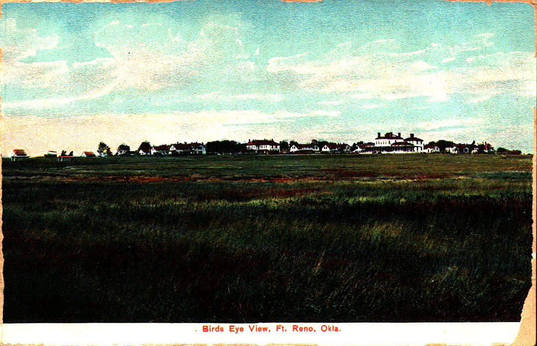 Fort Reno Birds Eye View Tommy Neathery Collection