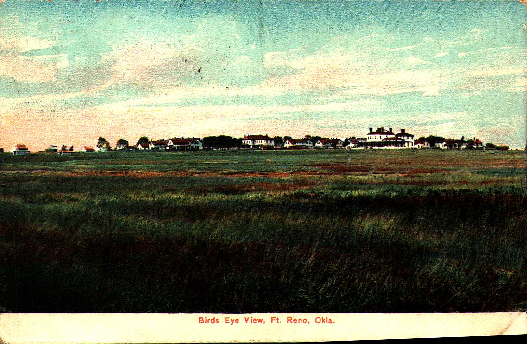 Fort Reno Birds Eye View ca 1912 Tommy Neathery Collection
