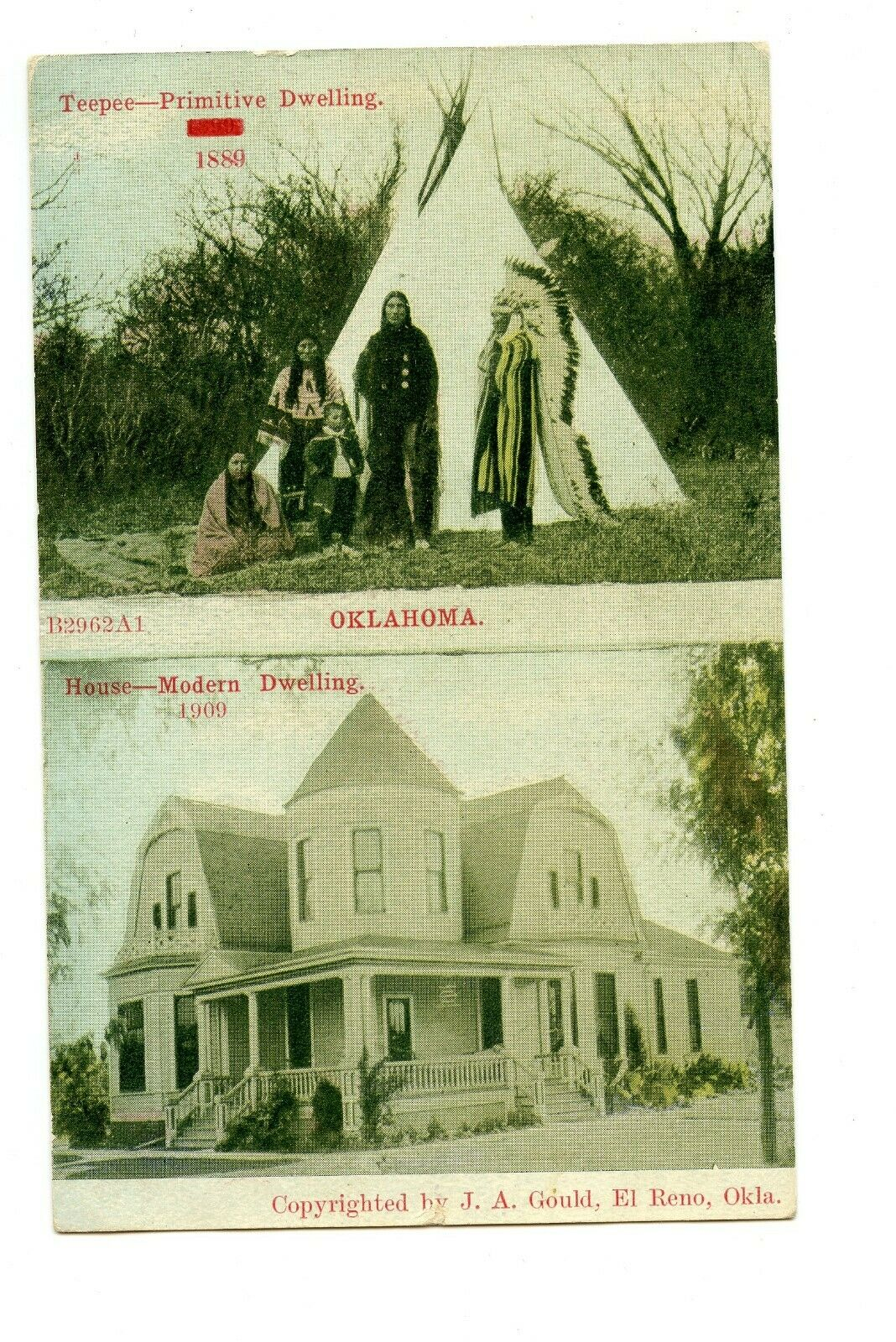 Goff House before extension and Tepee Tommy Neathery Collection