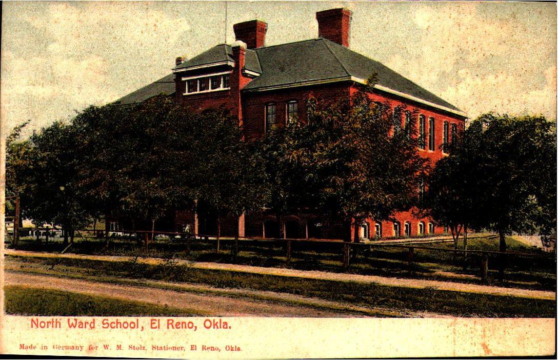 Irving North Ward School El Reno ca 1900 Tommy Neathery Collection