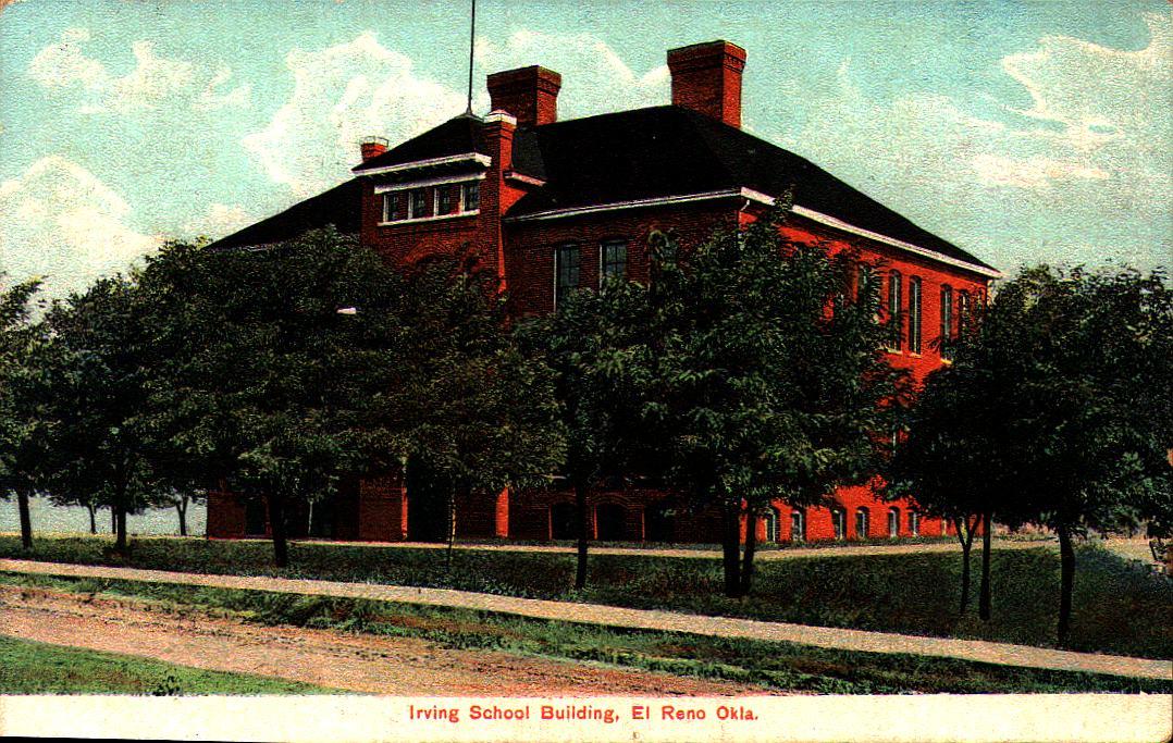 Irving School El Reno ca 1908 Tommy Neathery Collection
