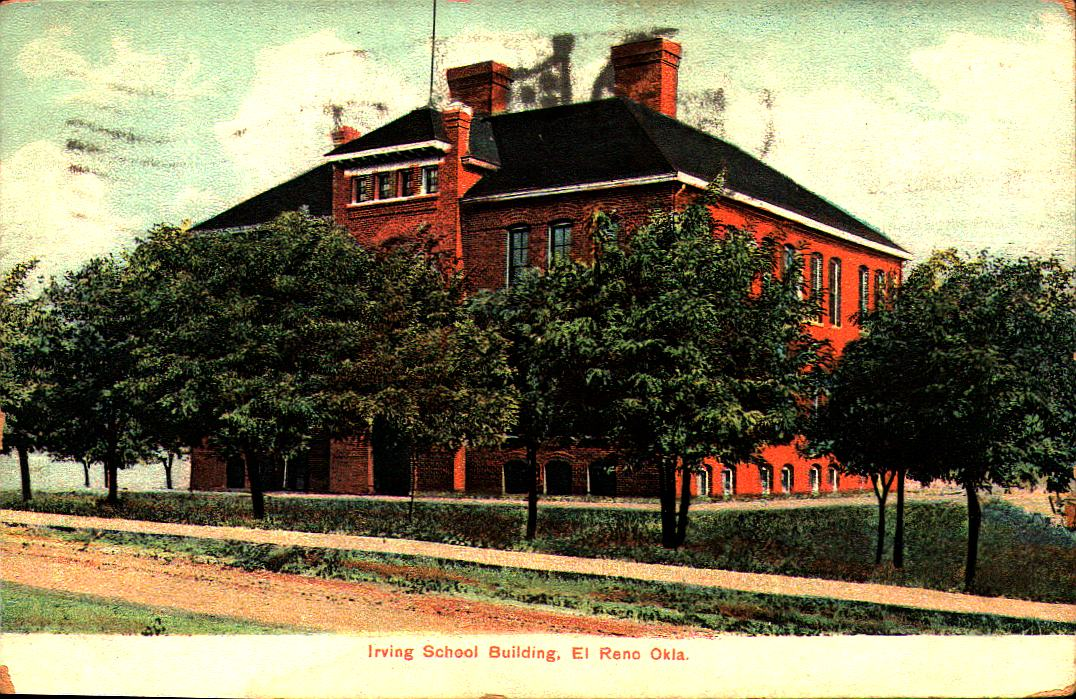 Irving School El Reno ca 1910 Tommy Neathery Collection