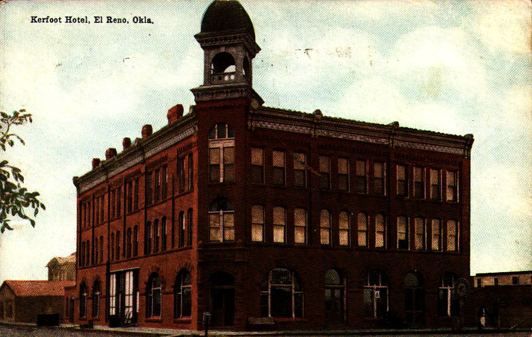 Kerfoot Hotel El Reno ca 1909 Tommy Neathery Collection