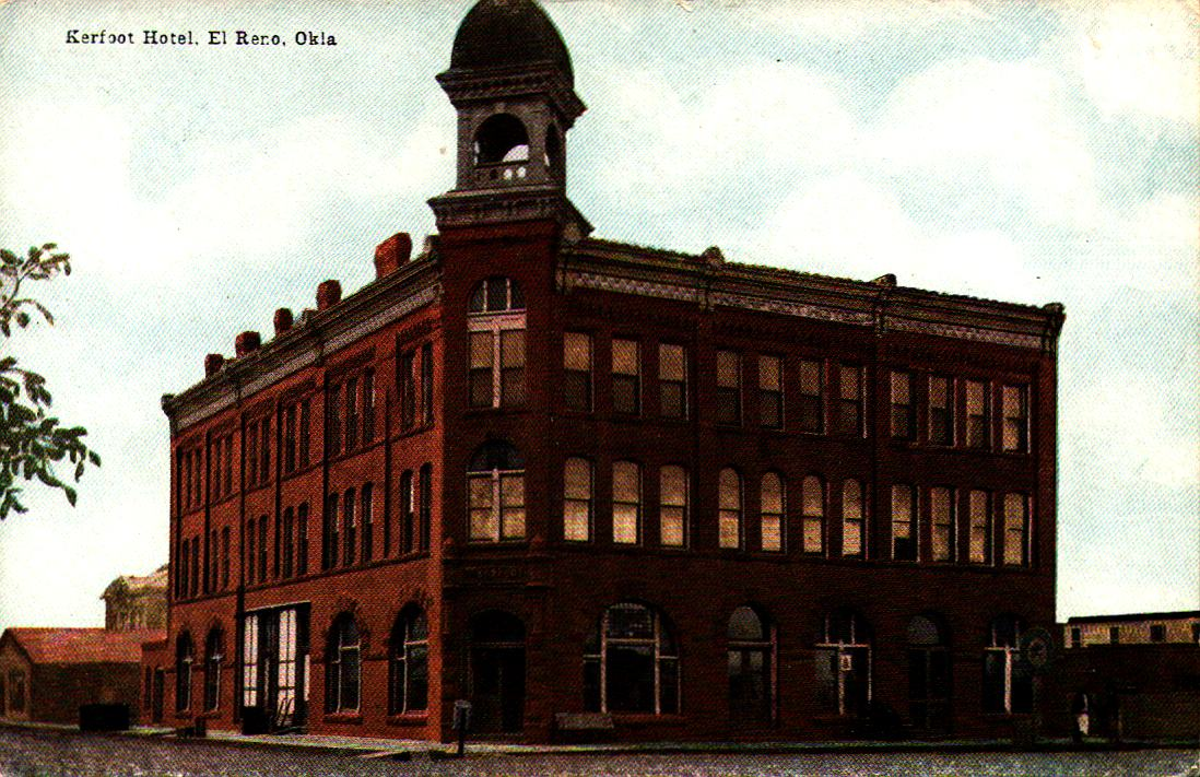 Kerfoot Hotel El Reno ca 1910 Tommy Neathery Collection