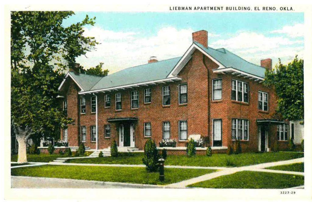 Liebmann Apartments on corner of Wade and Barker Postmarked 1938