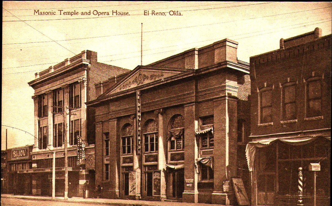North Bickford - Masonic Temple and Opera House El Reno Tommy Neathery Collection