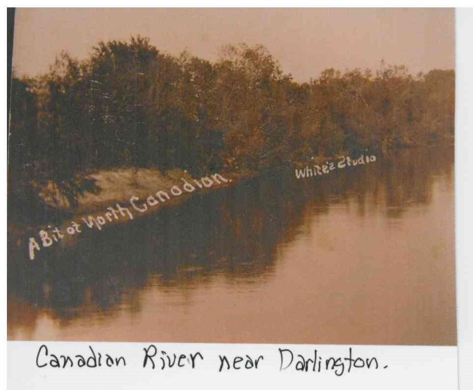 North Canadian River near Darlington