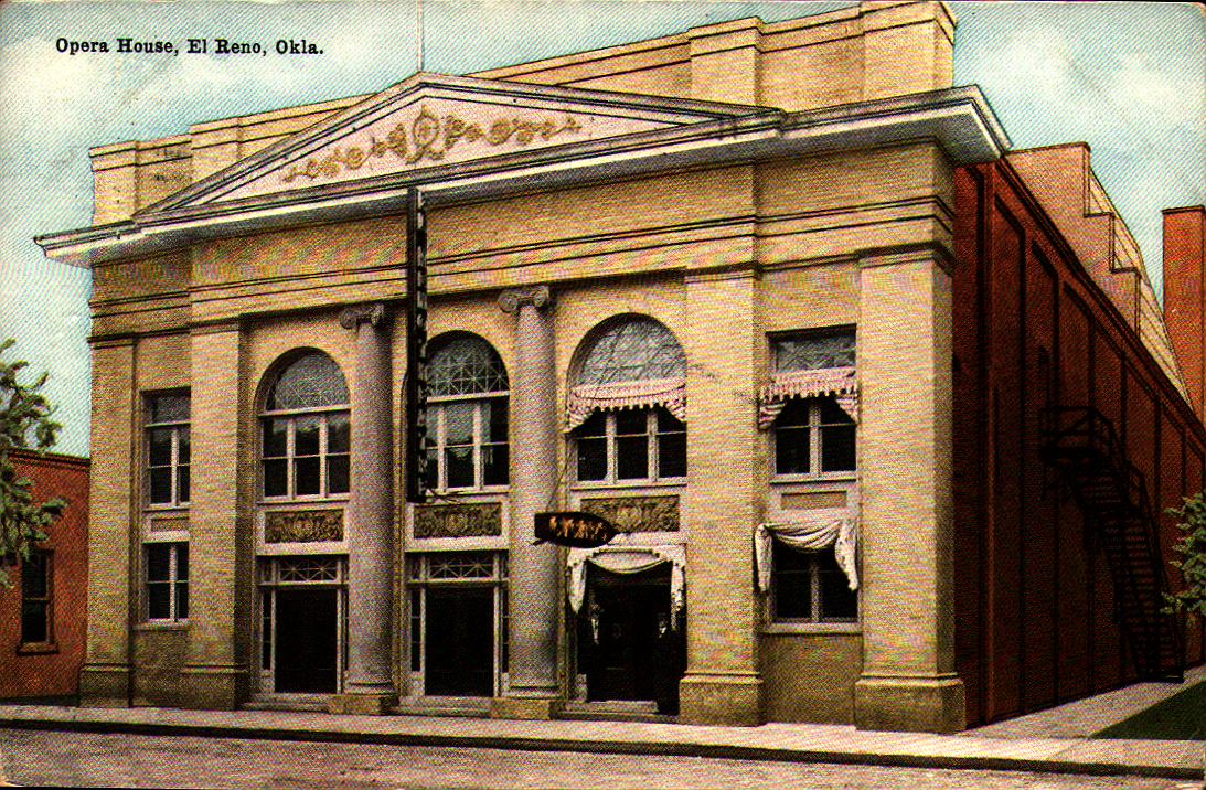 Opera House El Reno ca 1909 Tommy Neathery Collection