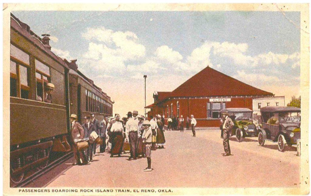 Passengers Boarding Rock Island Train