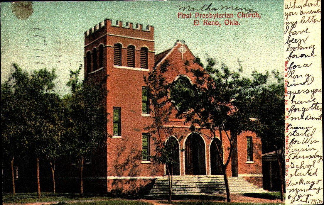 Presbyterian Church El Reno ca 1907 Tommy Neathery Collection