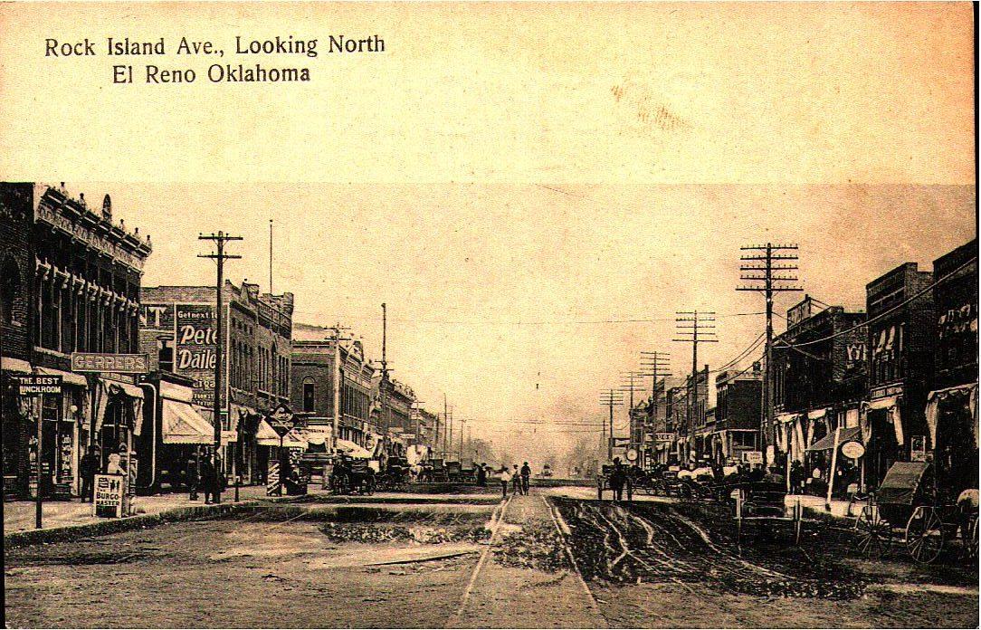 Rock Island Avenue Looking North El Reno Tommy Neathery Collection