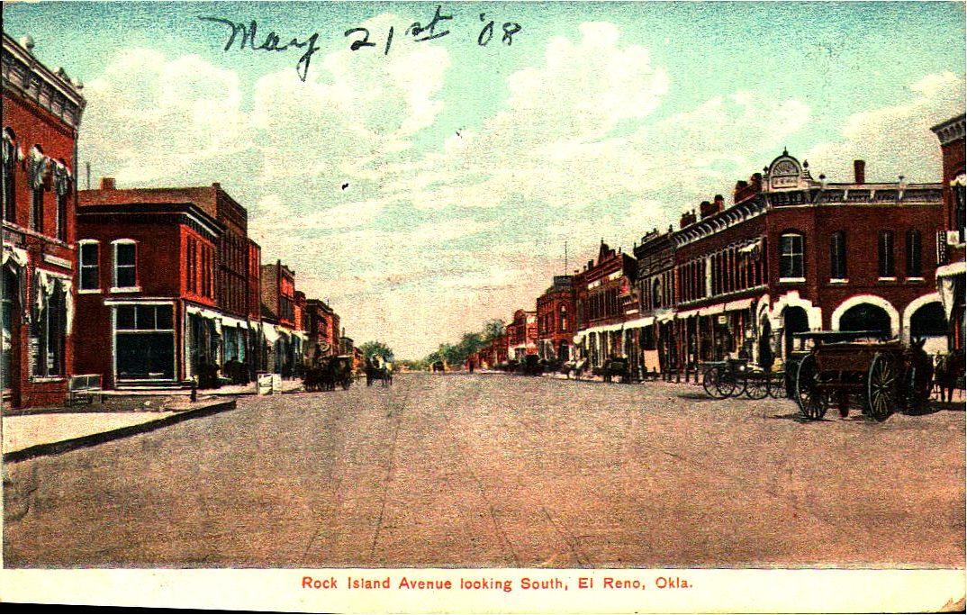 Rock Island Avenue Looking South El Reno ca 1908 Tommy Neathery Collection