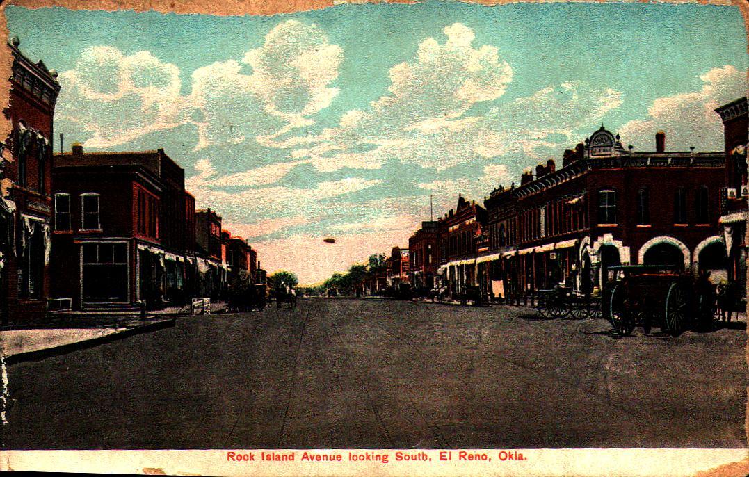 Rock Island Avenue looking South El Reno Tommy Neathery Collection