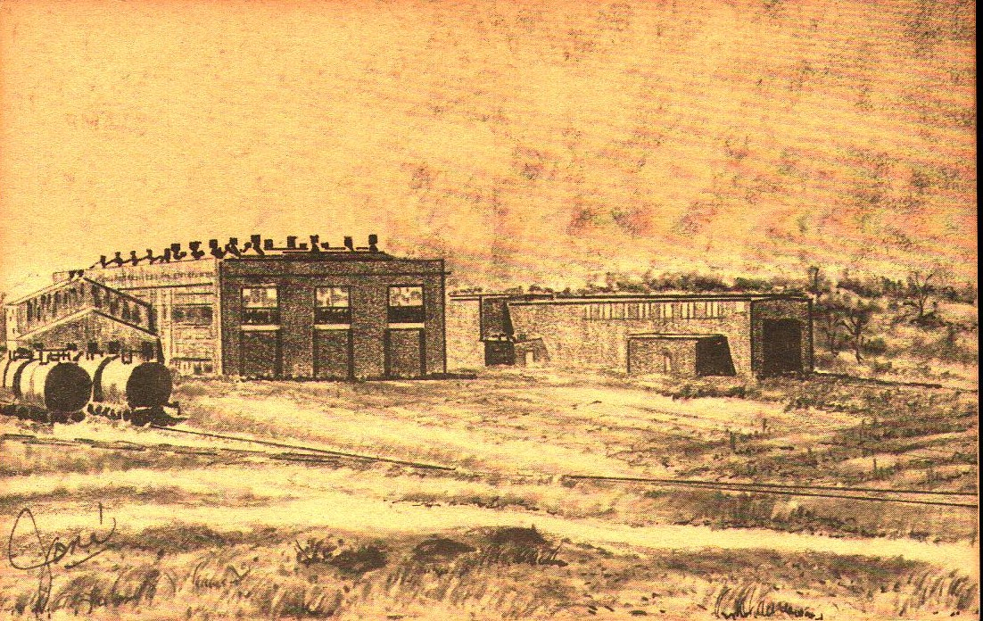 Rock Island Shops drawing by Jone El Reno Tommy Neathery Collection