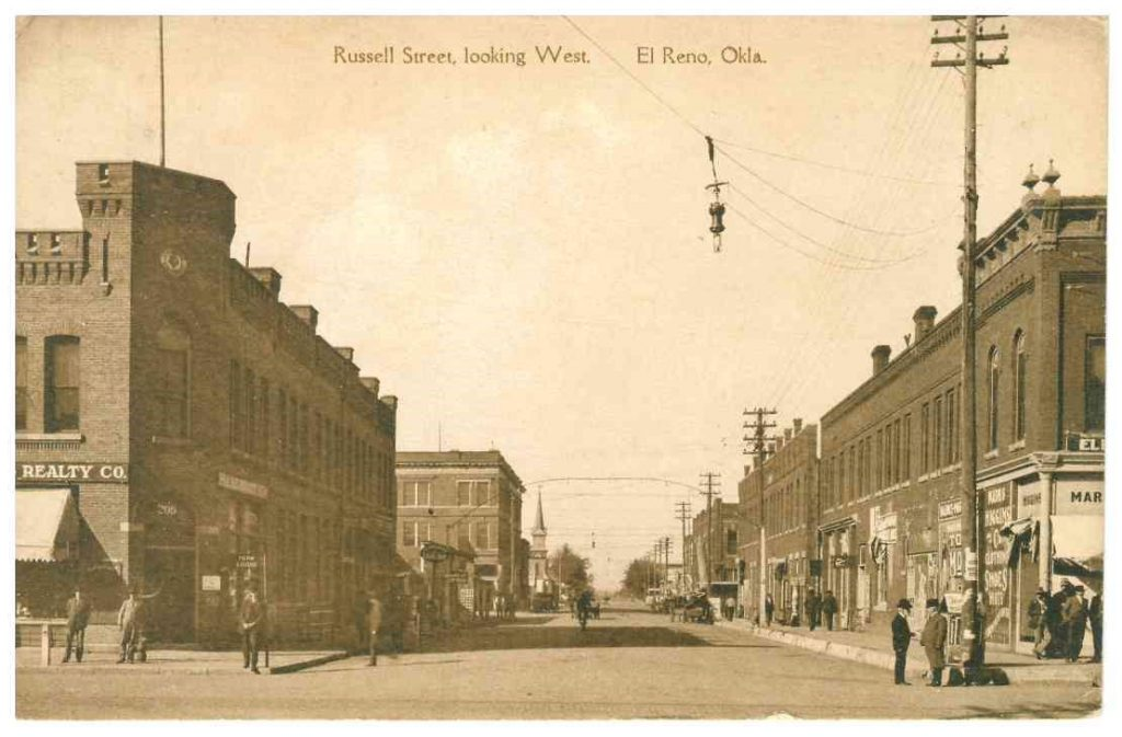 Rock Island and Russell looking west Postmarked November 1917