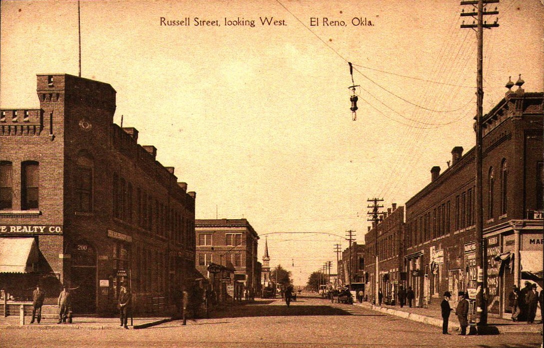 Russell Street Looking West, El Reno Tommy Neathery Collection