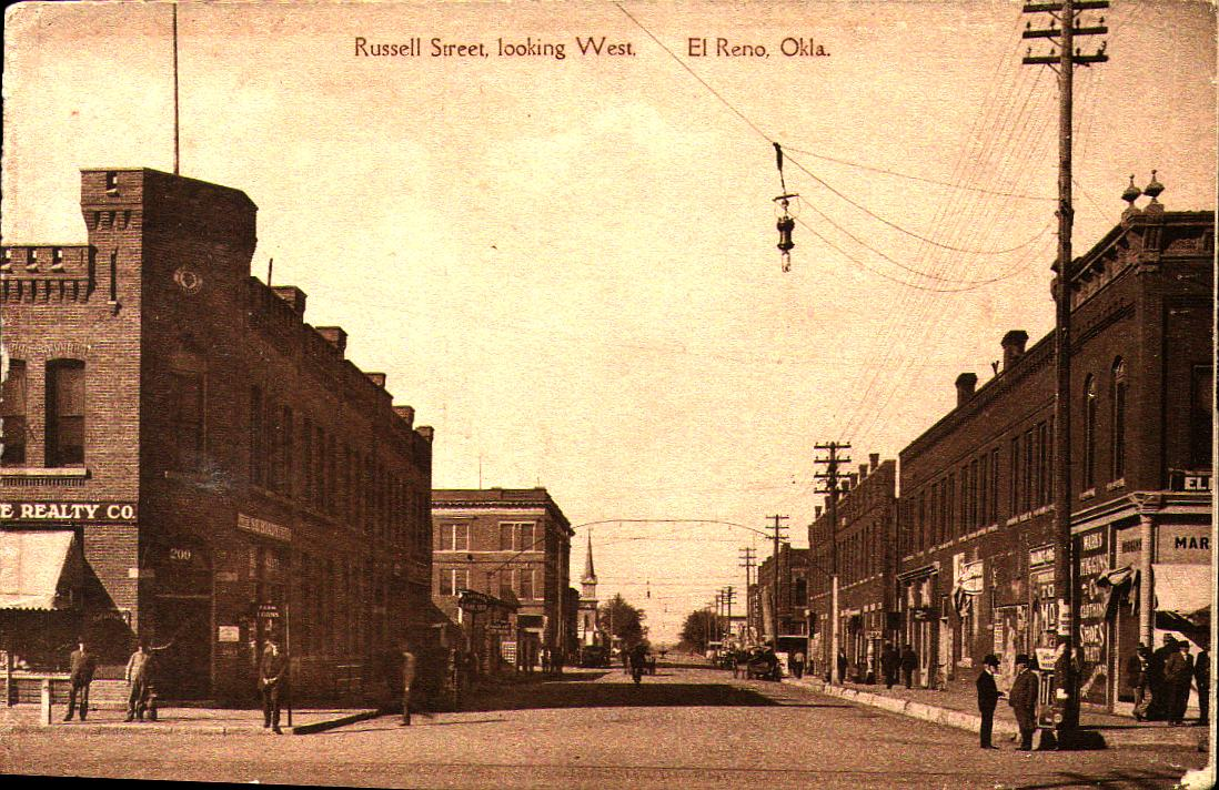 Russell Street looking West El Reno Tommy Neathery Collection
