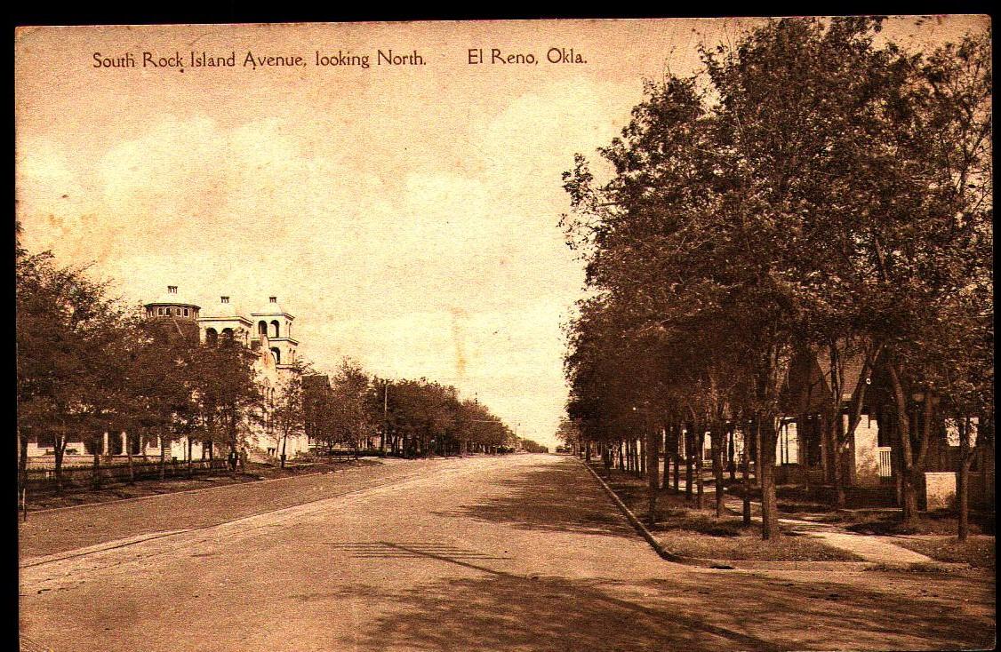 South Rock Island Avenue Looking North El Reno Tommy Neathery Collection