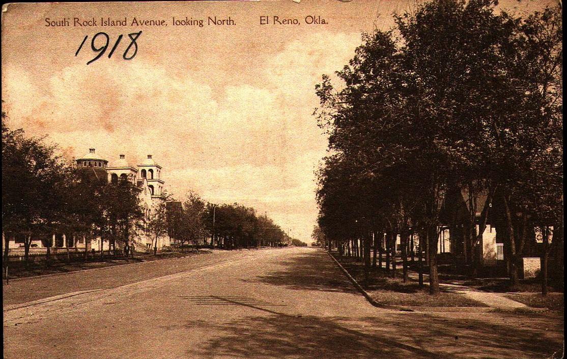 South Rock Island Avenue Looking North El Reno ca 1918 Tommy Neathery Collection