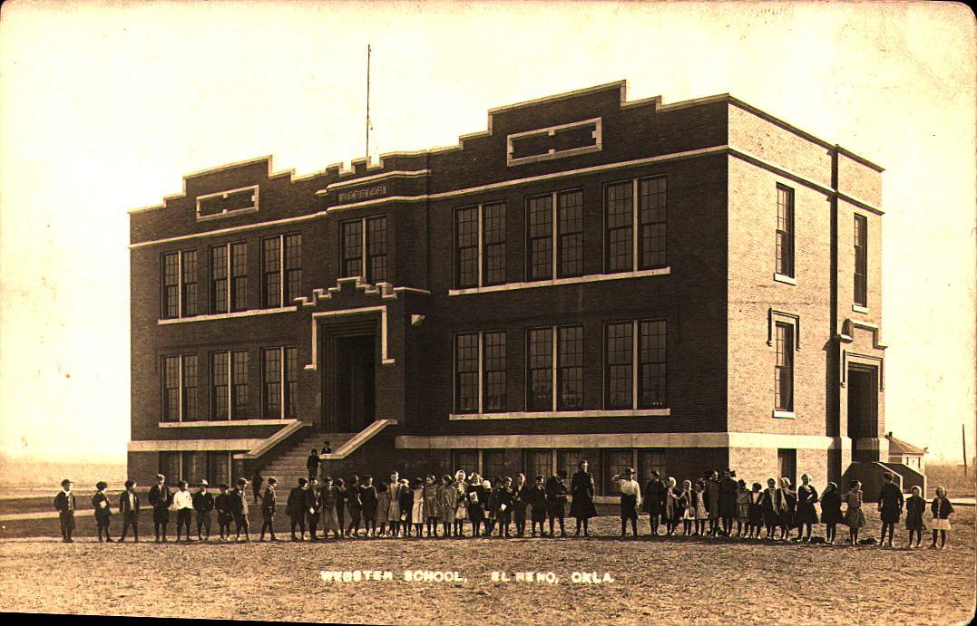 Webster School El Reno ca 1909 Tommy Neathery Collection