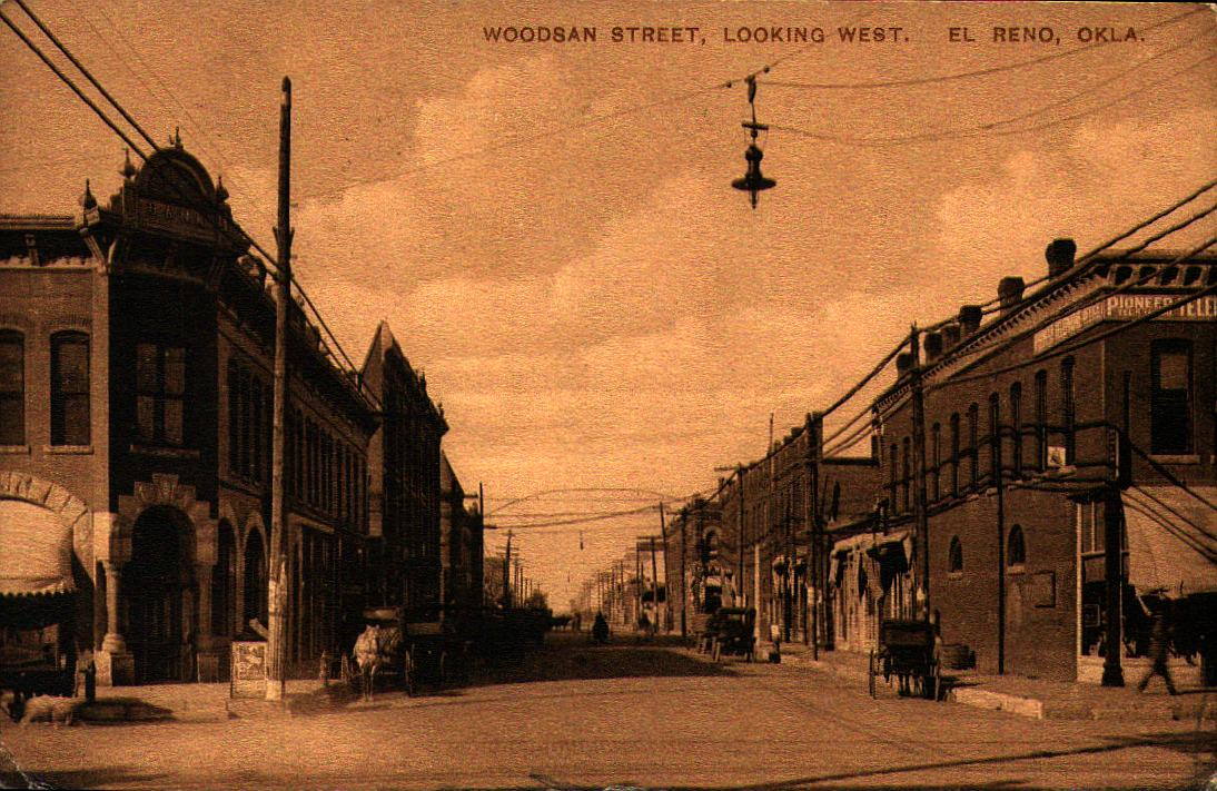 Woodson Street Looking West El Reno ca 1912 Tommy Neathery Collection
