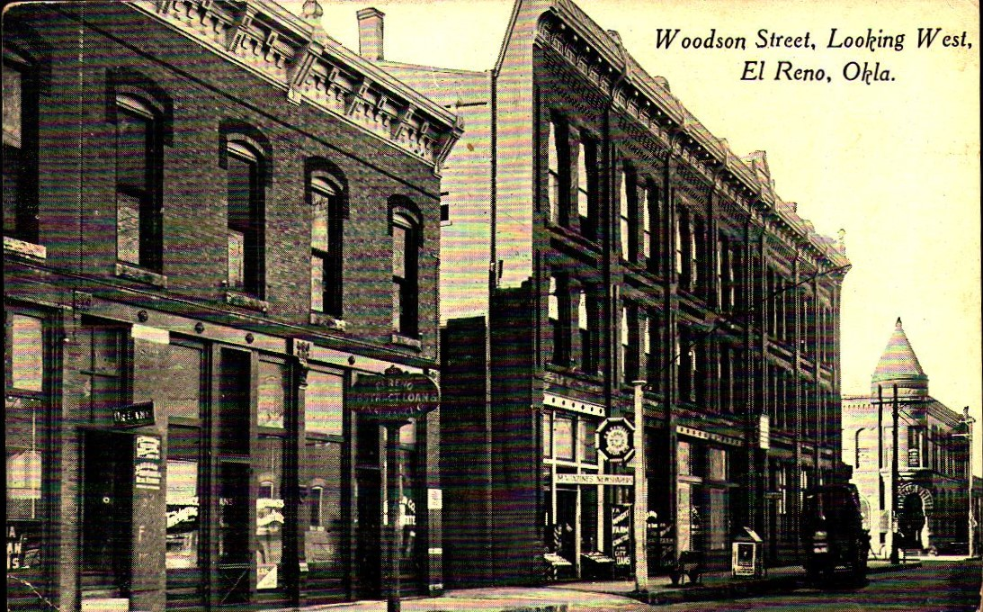 Woodson Street Looking West El Reno ca 1918 Tommy Neathery Collection