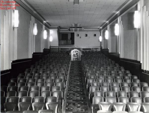 Interior of the El Caro Theater in 1940 (Photo from the Oklahoma Historical Society archives)